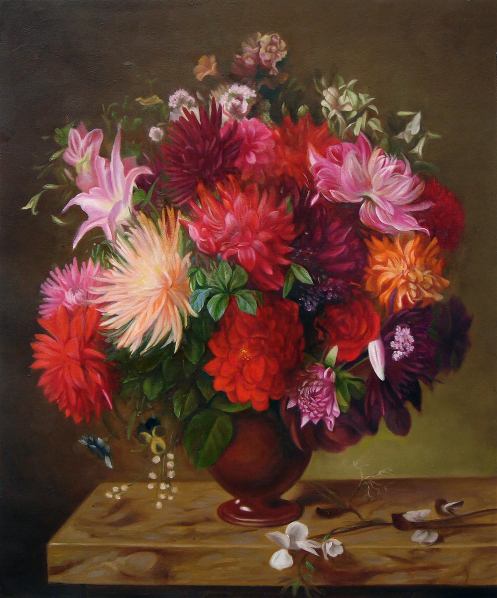 Flower Oil Painting by Fabulous Masterpieces