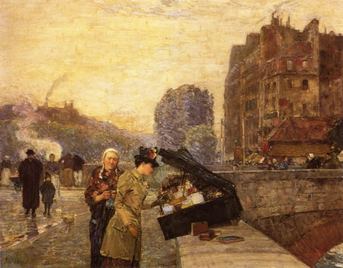 Childe hassam - The Quai St Michel