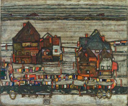 Egon Schiele - Hauser Mit Bunter Wasche